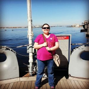 Mel on USS Wisconsin