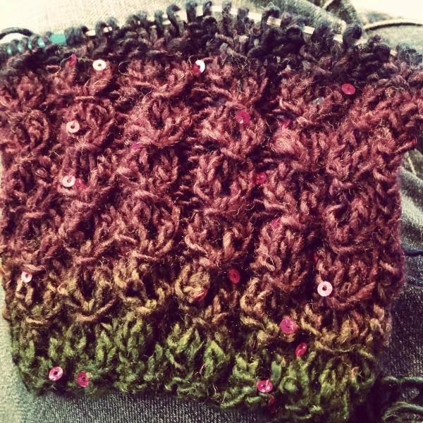 knitting, scarf, lacework