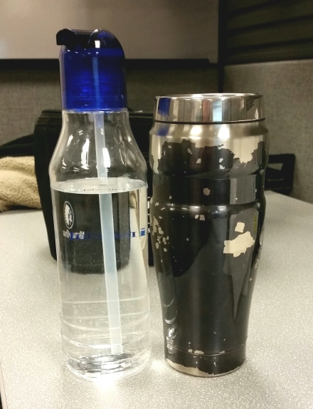 coffee, water