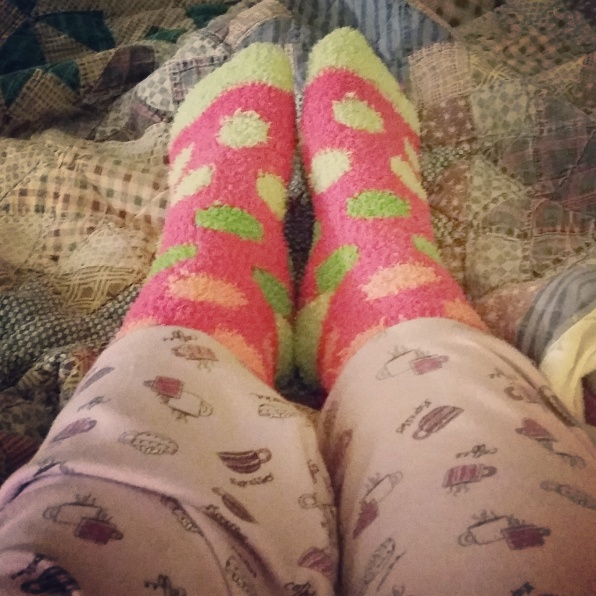 Fuzzy Socks, In My Bed, Photo-A-Day