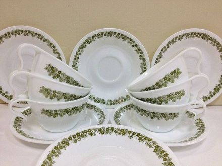 Corelle Crazy Daisy Dishes