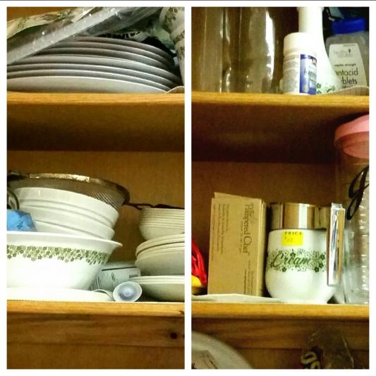 still full cabinets